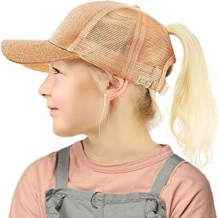 C.C 儿童 2-7 马尾辫混乱小马帽棒球帽帽