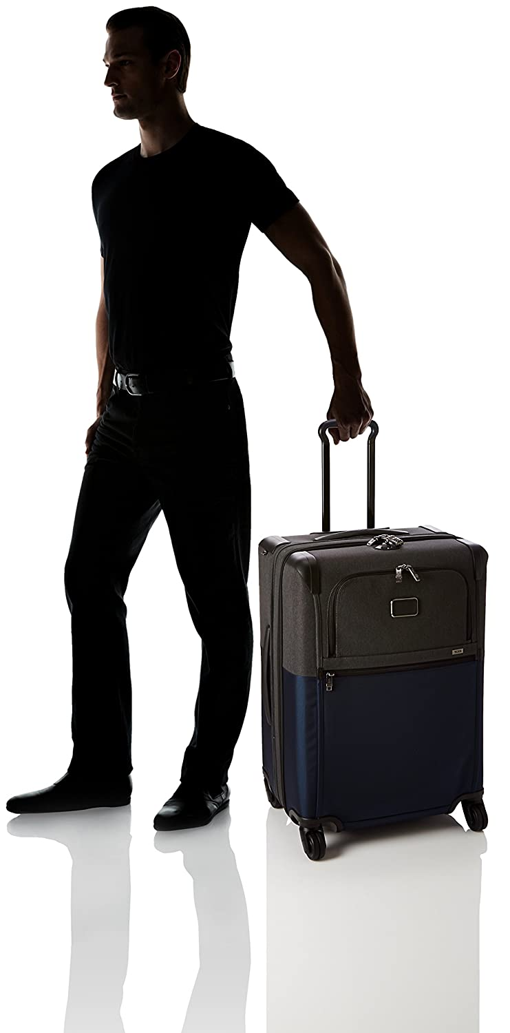 Tumi Alpha 2 Short Trip Expandable 4 Wheeled Packing Case 76L , Navy/Anthracite (Blue) - 22064
