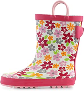 KomForme 女童雨靴,防水橡胶,带手柄,多种印花和不同尺寸