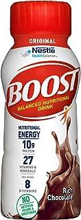 Boost Nutritional Drinks 原装全营养饮料,浓郁巧克力味,8盎司/237毫升瓶装(24瓶)10克蛋白质
