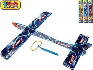 JA-RU 大型悬挂滑翔机飞翔弹簧三角飞机玩具 14 英寸(3 件装)派对用品户外玩具游戏泡沫飞机*礼品玩具适合儿童和成人吊带飞翔 I 5816-3 1 Unit Delta Sling Glider