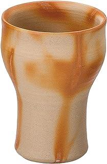 山下工艺 啤酒杯・啤酒 陶器 φ8×11cm(300cc) 备前烧 自由杯 大发 向日葵 15030170