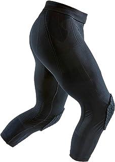 McDavid 迈克达威 加厚压缩紧身裤 3/4 长度篮球和足球透气针织紧身裤 带护膝。