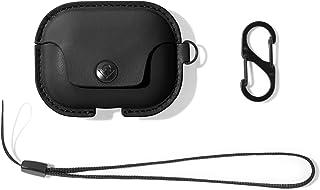 Twelve South Airsnap Pro | 皮革保护套/保护套带防失保护夹和可选 Airpods Pro 手提带,黑色