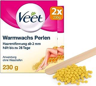 Veet Warmwachs Perlen mit Bienenwachs, 2er Pack(2 x 230 g)