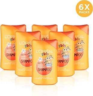 L'Oreal 欧莱雅 Extra Gentle 儿童2合1热带芒果洗发水 250毫升 6瓶装