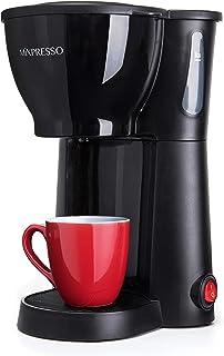 Mixpresso 迷你小型滴滤咖啡机 带冲泡篮子 黑色小咖啡壶 (10 oz)