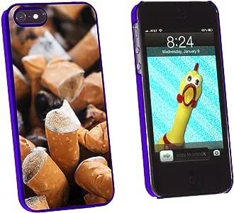 Graphics and More 香*灰缸 - Addiction Quit Smoking - Snap-On 硬质保护壳适用于 Apple iPhone 5/5s - 非零售包装 - 蓝色