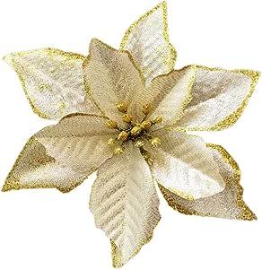 圣诞闪耀迷彩圣诞树装饰品 12 件装 金色