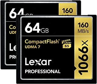 Lexar Professional 1066x 64GB CompactFlash card LCF64GCRBNA10662 - 2 Pack
