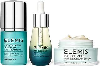 Elemis 艾丽美Pro-Collagen 骨胶原经典三件套,骨胶原海洋日霜30毫升,SPF 30,海洋脸部精油15毫升,眼部精华15毫升