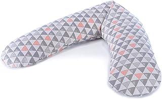 THERALINE 原装孕妇和哺乳枕 | 填充沙粒原厂微珠 | 包括外套 | 190 厘米 Triangelmix Mikroperlen