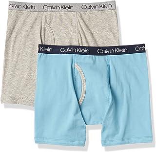 Calvin Klein Boys' Little Modern Cotton Assorted Boxer Briefs Underwear, Multipack