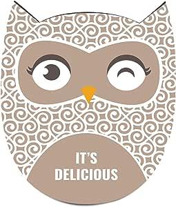 HOTRUN 装饰性三维被餐桌和计数器 – 可放置锅子和平底锅 – 保护表面不受热和冷热的防滑材料提手高于 356 华氏度 – 复古绿松石猫头鹰设计 Floral cream 6.29X7.87X0.39