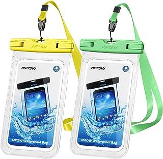 mpow® 通用防水手机壳, IPX8防水手机袋防水袋,适用于 iphone8/ 8plus / 7/ 7Plus / 6S / 6/ 6S Plus SAMSUNG GALAXY S8/ S7Google Pixel htc10(2只装)