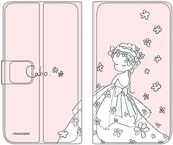 caho 翻盖保护套超薄翻盖印花婚礼手机保护壳翻盖式适用于所有机型  ウェディングB 2_ Xperia XZ1 SO-01K