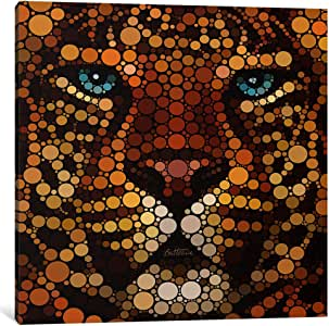 iCanvasART BHE5-1PC6-12x12 Leopard Canvas Print by Ben Heine, 1.5 by 12 by 12-Inch