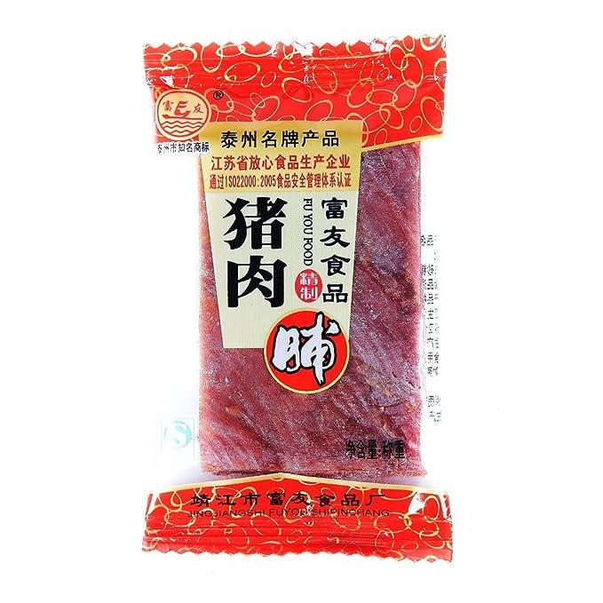 富友靖江特产秘制猪食品小袋装18g-肉脯-亚马梦见偷玉米面图片