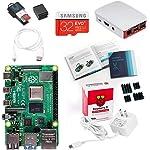 Vilros 覆盆子 Pi 4 完整入门套件,带官方包装盒(红色/白色) 4GB