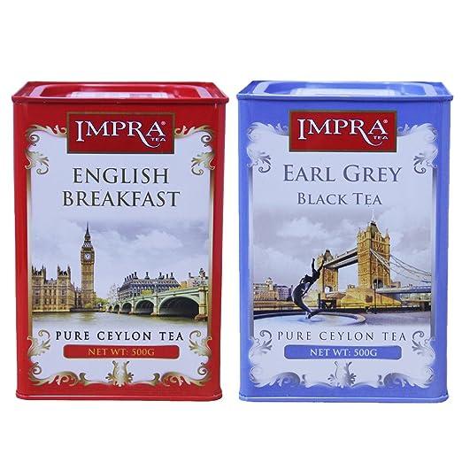 IMPRA 英伯伦 英式伯爵调味茶 组合装 1000g(斯里兰卡进口)