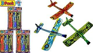 JA-RU Hang Glider 飞翔弹弓 3 件套三角飞机玩具 9 英寸(约 22.9 厘米)(1 件装)派对用品户外玩具游戏泡沫飞机*礼品玩具儿童2341-1A 3 Packs 3 Bundle Pack