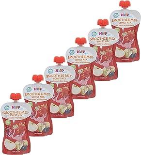 Hipp Kinder Früchte im Quetschbeutel - Smoothie Mix - sonst nix, Rote-Früchte in Apfel-Banane, 6er Pack (6 x 120 ml)