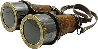 stylewise Camping 双筒望远镜仿皮海盗纯色太空玻璃装饰航海装饰 Brown and Gold Tone MFN81A