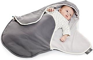 WALLA Boo einschlagdecke COCO, 非常实用和毛绒柔软婴儿毛毯, 棉, 90 x 70厘米 grau - silber