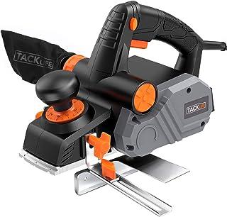刨花机,TACKLIFE Power Hand Planer,7.5 安培 900W 14500Rpm 3-1/4 英寸,1/96 英寸至 1/8 英寸可调节切割深度,双面吹气芯片,平行围栏支架,理想的家庭手工刨花机 - EPN02A