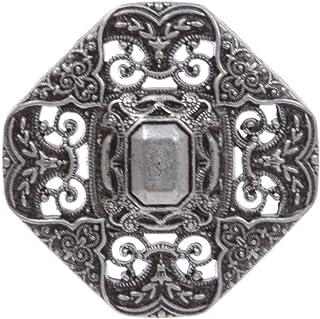 1.5 英寸(38 毫米)西部雕刻镂空镂空花八边圆形方形皮带扣