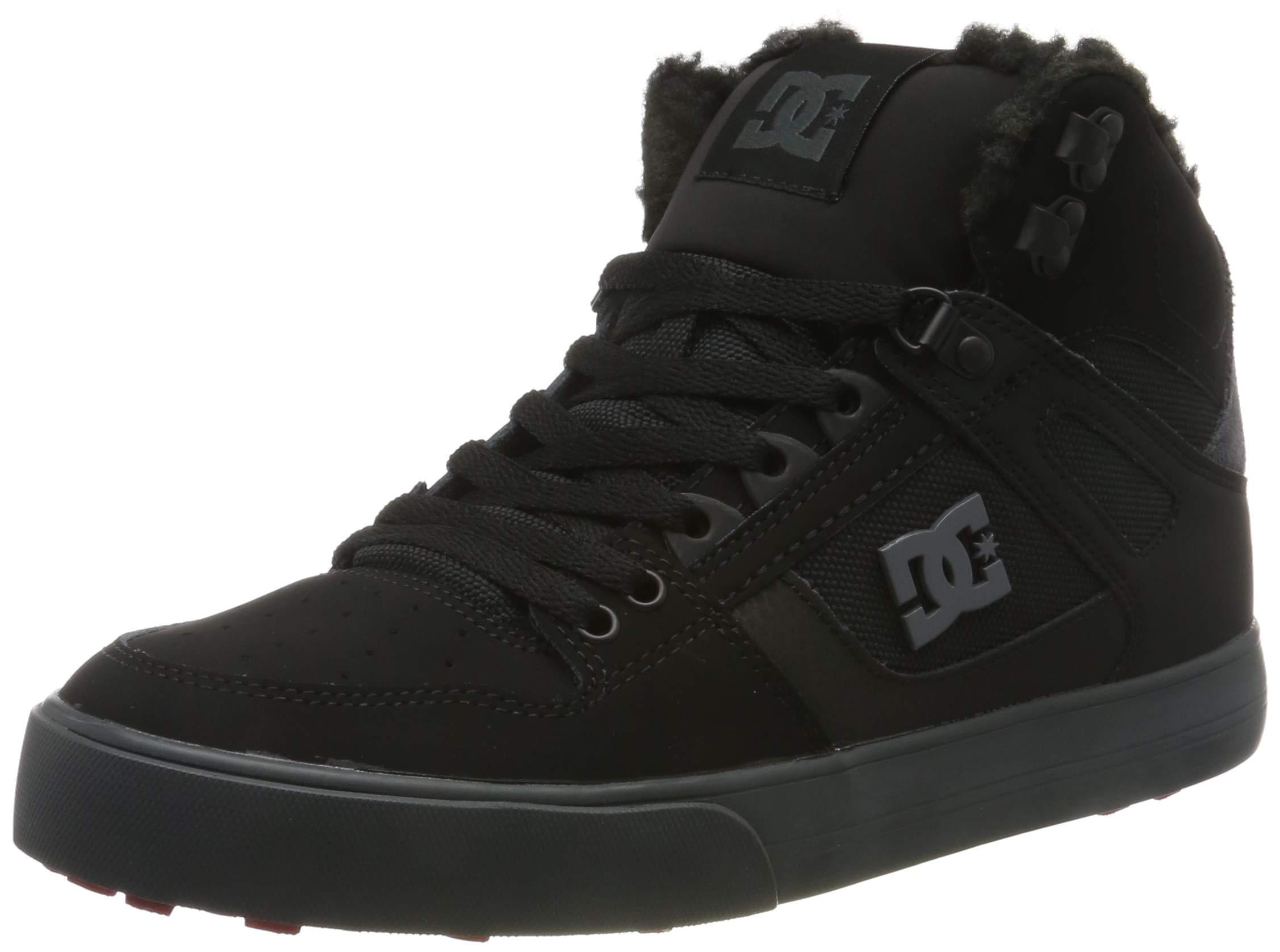 DCシューズの靴をスケートボード(DCSHI)メンズソリッドカラーのハイトップの冬