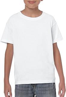 Gildan 儿童厚棉青年 T 恤,2 件装