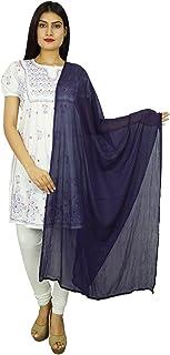 雪纺混纺印度围巾女士披肩领围巾 Chunni 长款杜帕塔礼物送给她