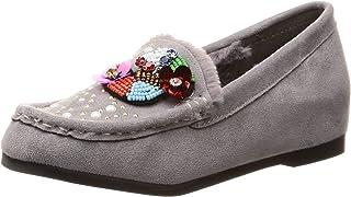 [Nowel Vogue 轻松] 蓬松毛绒软皮平底鞋 女士 219-0122
