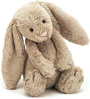 Jellycat 害羞的米色兔子填充动物玩具,中号,12 英寸