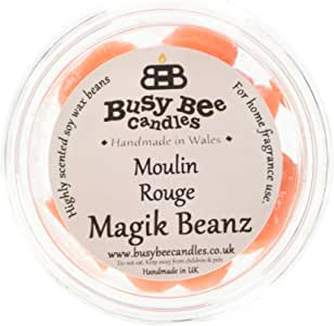"Busy Bee Candles""Moulin Rouge Magik Bean,橙色,6 件套"