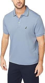 Nautica 男士经典柔软棉质纯色短袖Polo衫