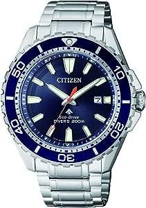 Citizen 西铁城 男士 指针 太阳能手表 不锈钢表带 BN0191-80L