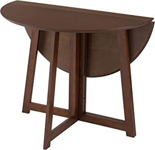 DOSISHA 餐桌 折叠 圆形 天然木材 自然棕色 自然色 幅90×奥行90×高さ72cm DT90R-BR