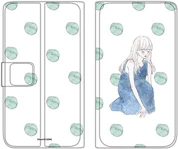 卡丽 壳 手册式 薄型印刷手册 座位女孩WN-LC875255_MX 2_ Xperia Z5 SO-01H 坐着的女孩 C