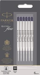 PARKER quinkflow nachfuellmine 适用于圆珠笔带蕾丝 6er Packung Mittlerer Spitze 黑色
