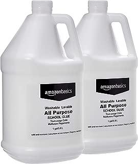 AmazonBasics 亞馬遜倍思 通用可洗液體膠,非常適合制作黏膠,1加侖瓶裝,2 只裝