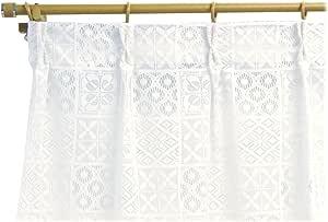 日本制造 北欧风格设计 蕾丝窗帘【Brooke 布鲁克】(2件装) 130cm幅×208cm丈 5338