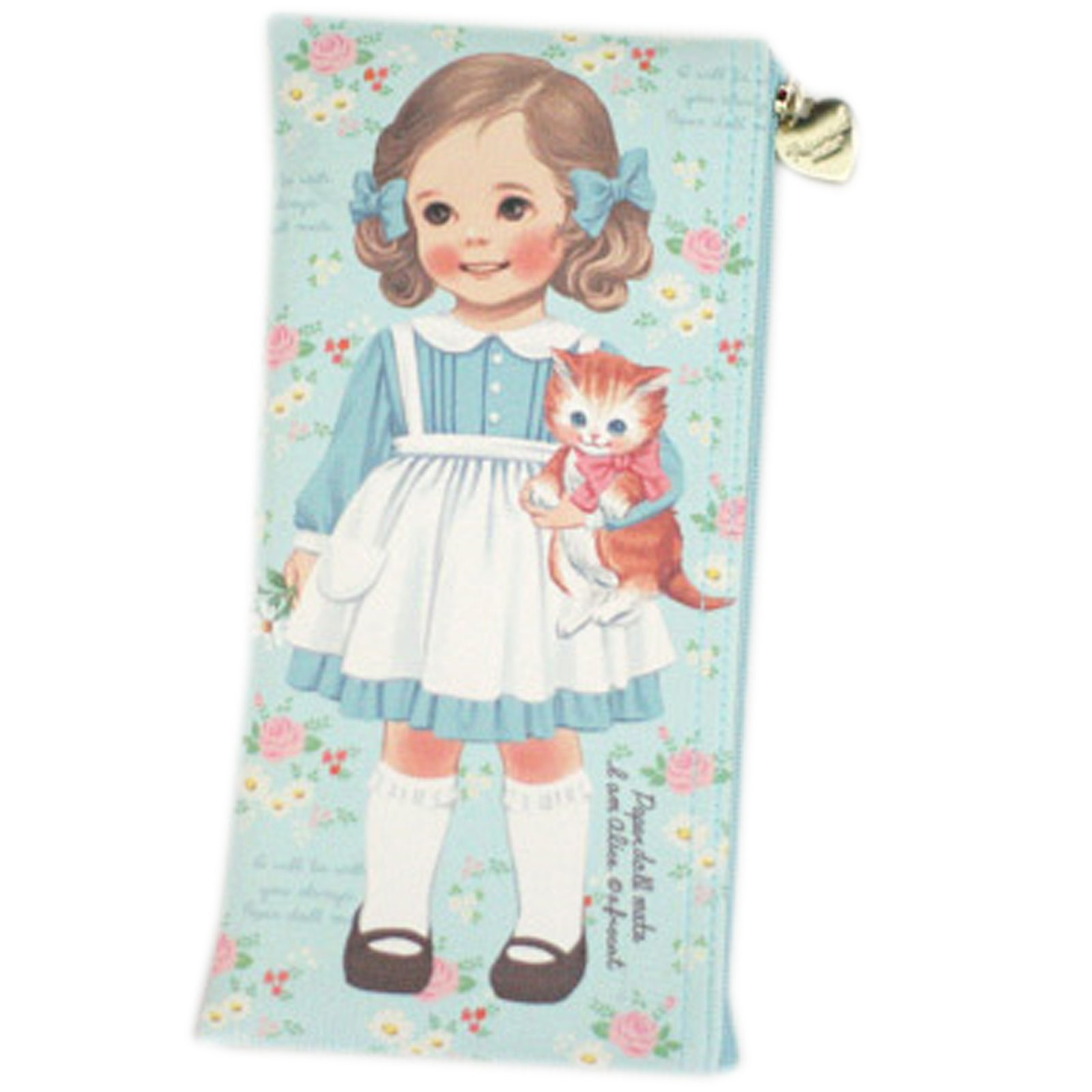 Afrocat Paper Doll Mate 新笔盒玫瑰铅笔*刷多功能袋