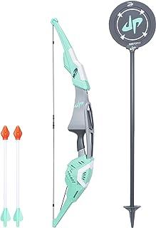 Nerf Dude Perfect Signature Bow 运动款大号弓箭,带有2个Nerf哨子箭头,适用于儿童、青少年和成人