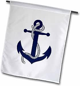 evadane–图像–船锚 * .–旗帜 12 x 18 inch Garden Flag
