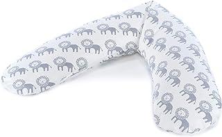 THERALINE 原装孕妇和哺乳枕 | 填充沙粒原厂微珠 | 包括外套 | 190 厘米 Wüstenkönig Mikroperlen