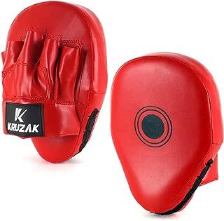 Kruzak 平纹拳击手套,泰国 MMA 训练,拳击武术和拳击靶用的聚焦垫