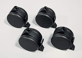 SIGEL 滚轮 用于会议支架 4件套 黑色 适用于坚固和柔软的地板 MU051