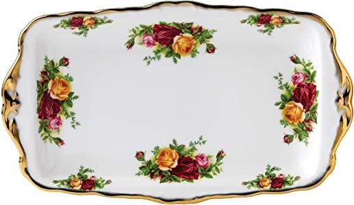 Royal Albert Old Country Roses 11-3/4-inch Sandwich Tray